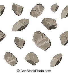 pierre, ensemble, pattern., seamless, rocher