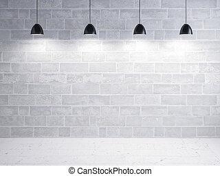 pierre, exposition, mur, lumière, plancher, fond