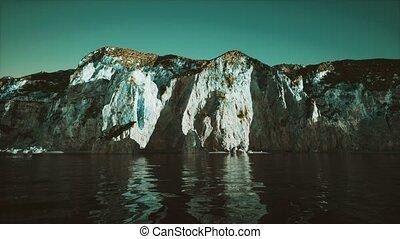 pierre, falaise, portugal, littoral