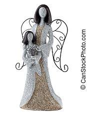 pierre, figurine, ange