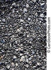 pierre, gravier, mélange, gris, textures, béton, asphalte