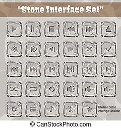 pierre, interface utilisateur, set., ui, et, ux, element., eps, 10.