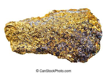 pierre, minéral, chalcopyrite