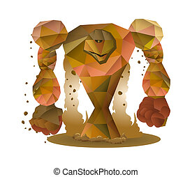 pierre, monstre, illustration