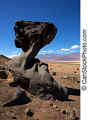 pierre, mort, parc national, formations, californie, vallée