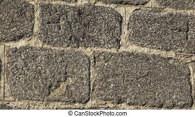 pierre, ou, vieux, mur, mur, texture, wall., arrière-plan., partie, fond, château, texture.