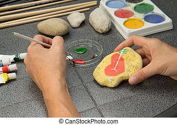 pierre, peinture