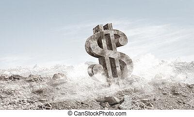 pierre, signe dollar