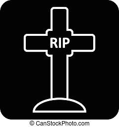 Vecteur de pierre tombale pierre tombale silhouette silhouettes csp10410386 recherchez - Pierre tombale dessin ...
