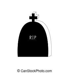 pierre tombale, icon., stone., tombe