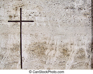 pierre, tombe, et, croix