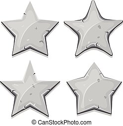 pierre, ui, jeu, étoiles, icônes