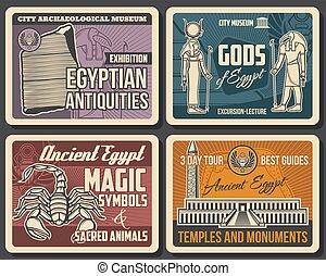 pierre, vallée, dieux, égyptien, rosetta, rois