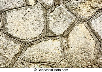 pierre, vieux, mur, élément architectural