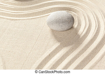 pierre, zen, jardin japonais