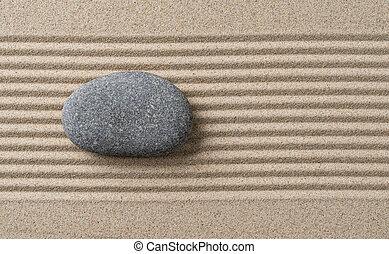 pierre, zen jardin, vide