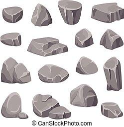 pierres, éléments, rochers
