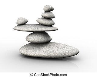 pierres, équilibre