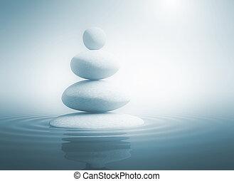 pierres, équilibre, zen