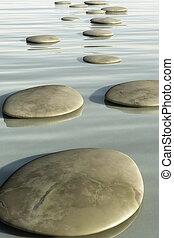 pierres, étape