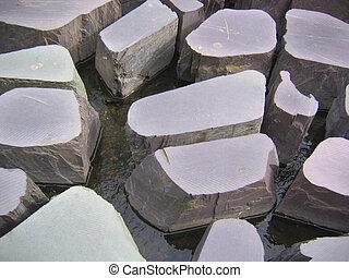 pierres, angleterre, caractéristique, eau, marcher, ...