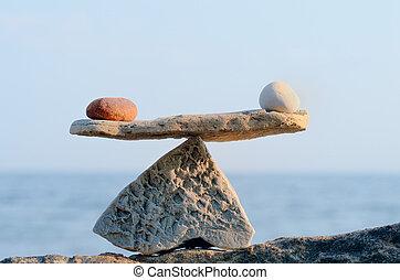 pierres, balances