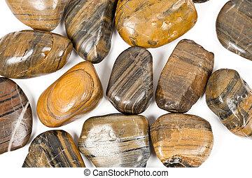 pierres, blanc, zen, isolé