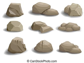 pierres, ensemble, naturel