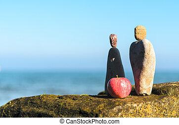 pierres, figurines, symbolique