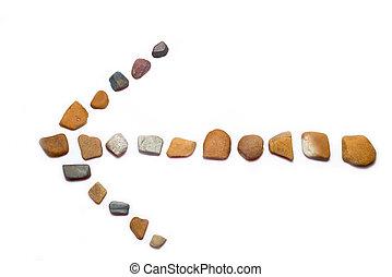 pierres, flèche
