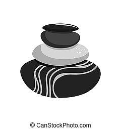 pierres, graphique, rochers, vecteur, icon., design.