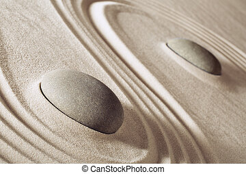 pierres, méditation, zen