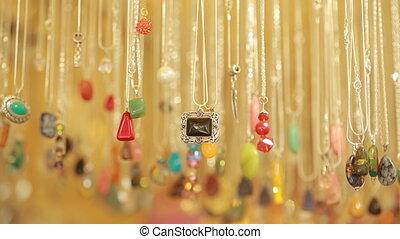 pierres, magasin, perles, bijouterie, semi, vente, précieux