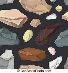 pierres, modèle, ensemble
