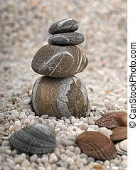 pierres, plage