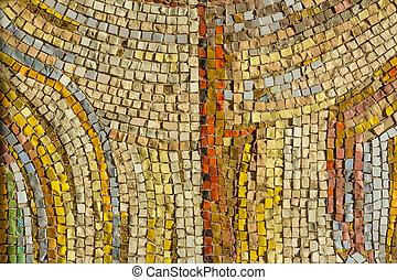 pierres, résumé, détails, céramique, mosaic., coloré