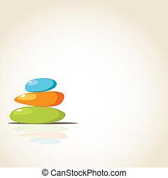 pierres, spa, arrière-plan coloré