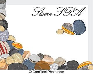 pierres, spa, cadre, fond