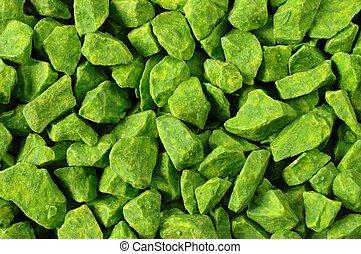 pierres, vert