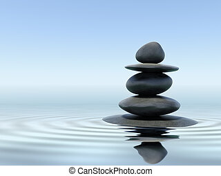 pierres, zen