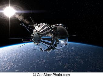 Pierwszy, orbita, statek kosmiczny