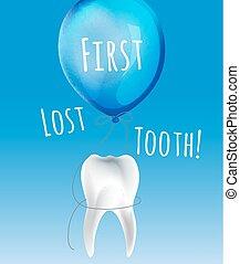 pierwszy, stracony, ząb