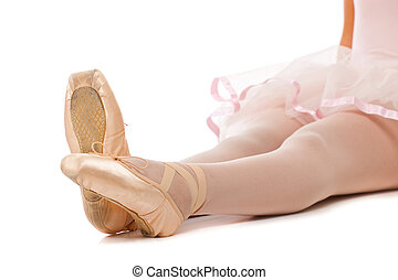 pies, ballet, dancer's, detalle