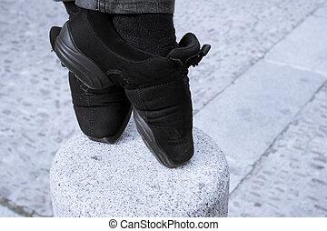 pies, puntas, bailarín