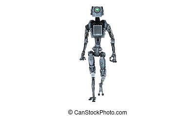 pieszy, robot
