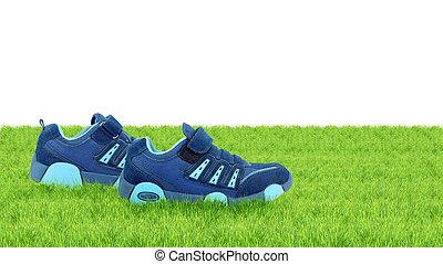 pieszy, sneakers, sobie