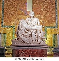 Pieta by Michelangelo - ROME, ITALY - MARCH 07: Pieta by...