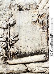 pietra, antico, ephesus, vuoto