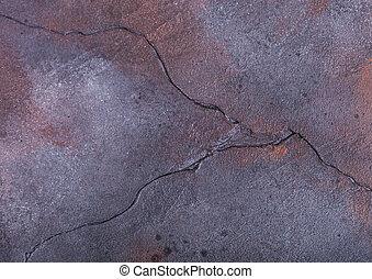 pietra blu, incrinature, viola, cemento, concreto, arrugginito, struttura