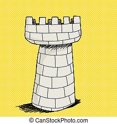 pietra, castello, torre